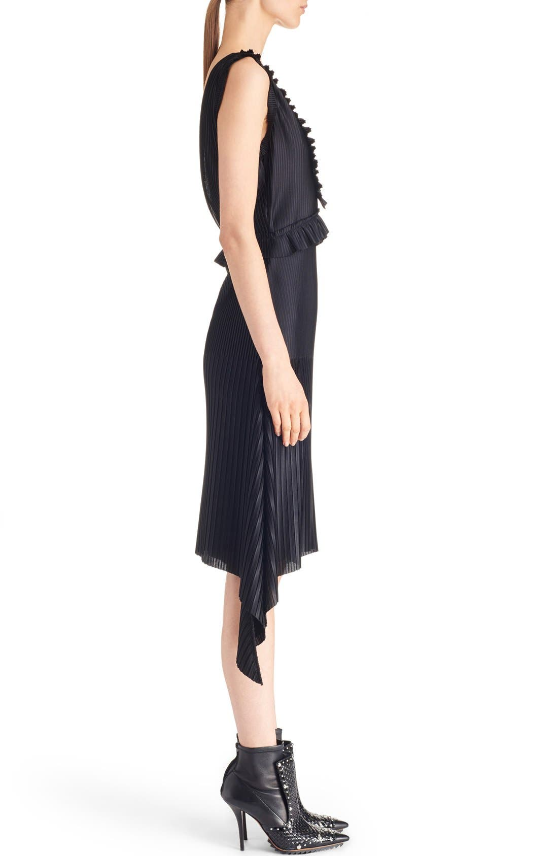 Alternate Image 4  - Givenchy V-Neck Pleated Jersey Dress
