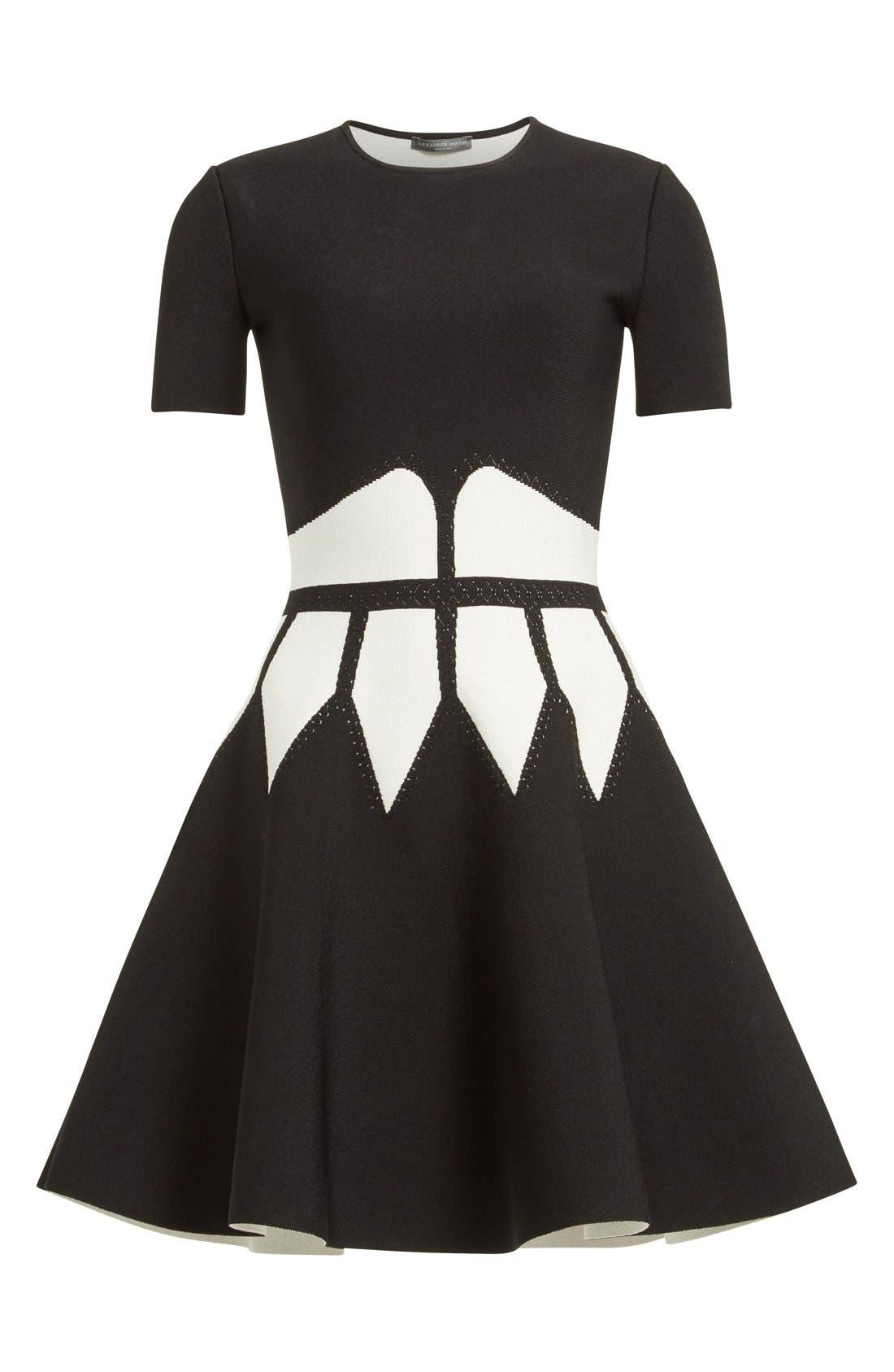 Alternate Image 4  - Alexander McQueen Intarsia Knit Fit & Flare Dress