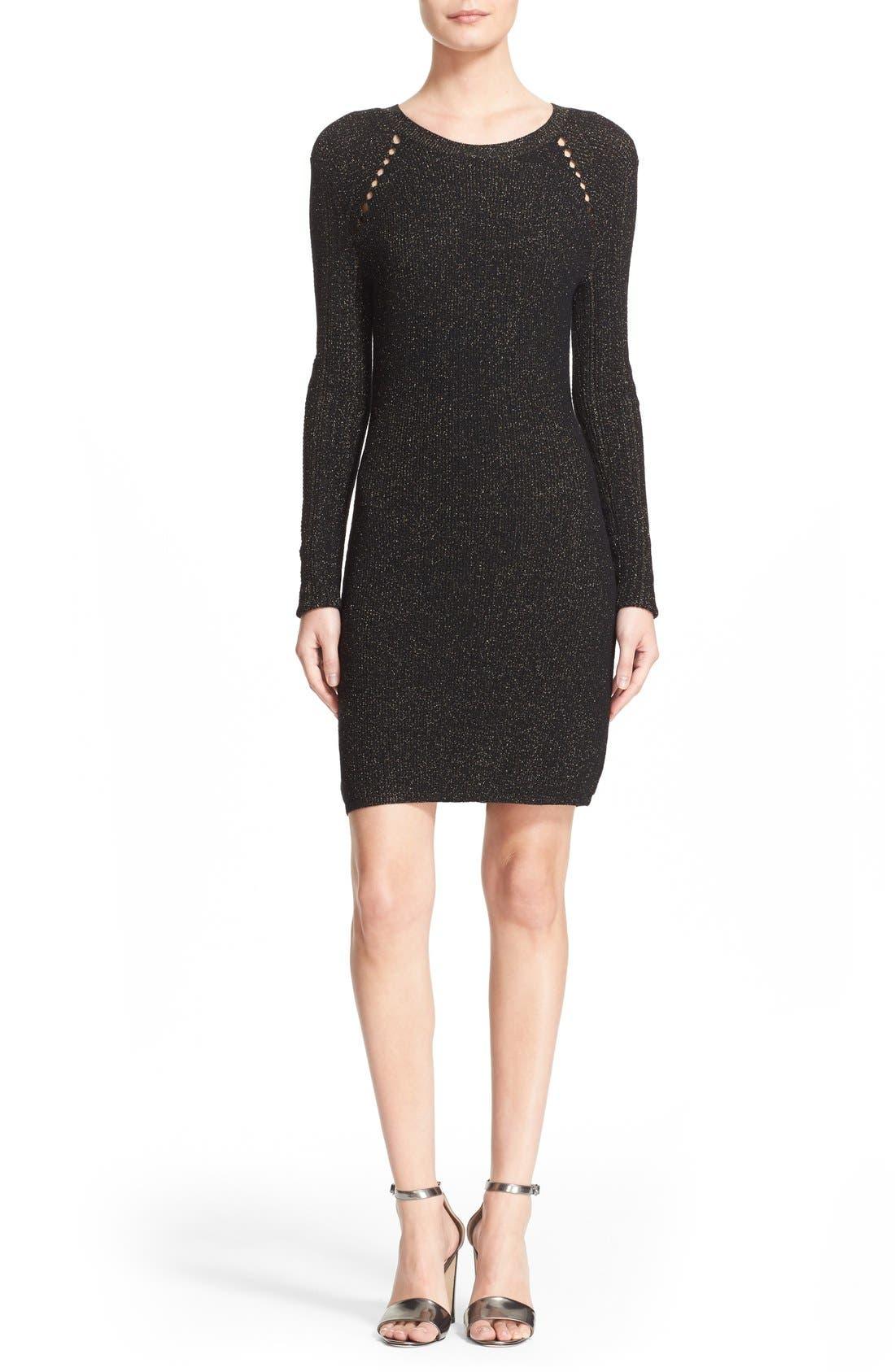 Alternate Image 1 Selected - Derek Lam 10 Crosby Metallic Sheath Dress