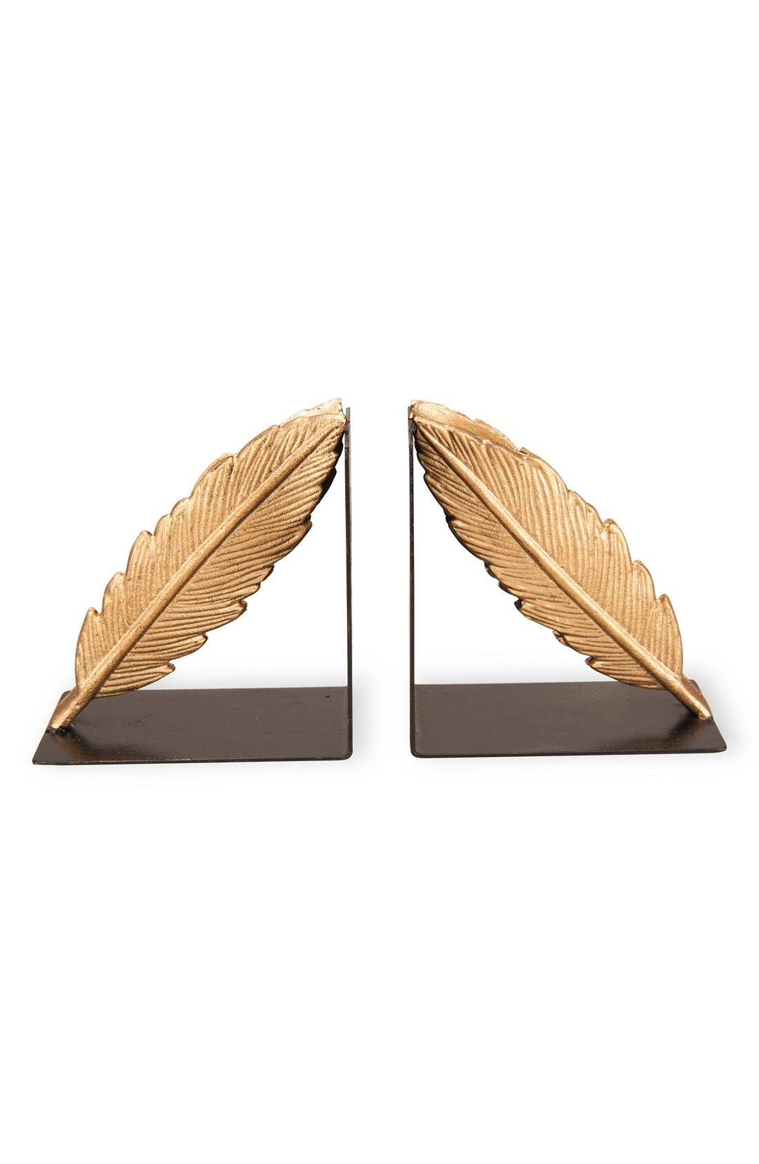 Alternate Image 1 Selected - Foreside Gold Feather Bookends (Set of 2)