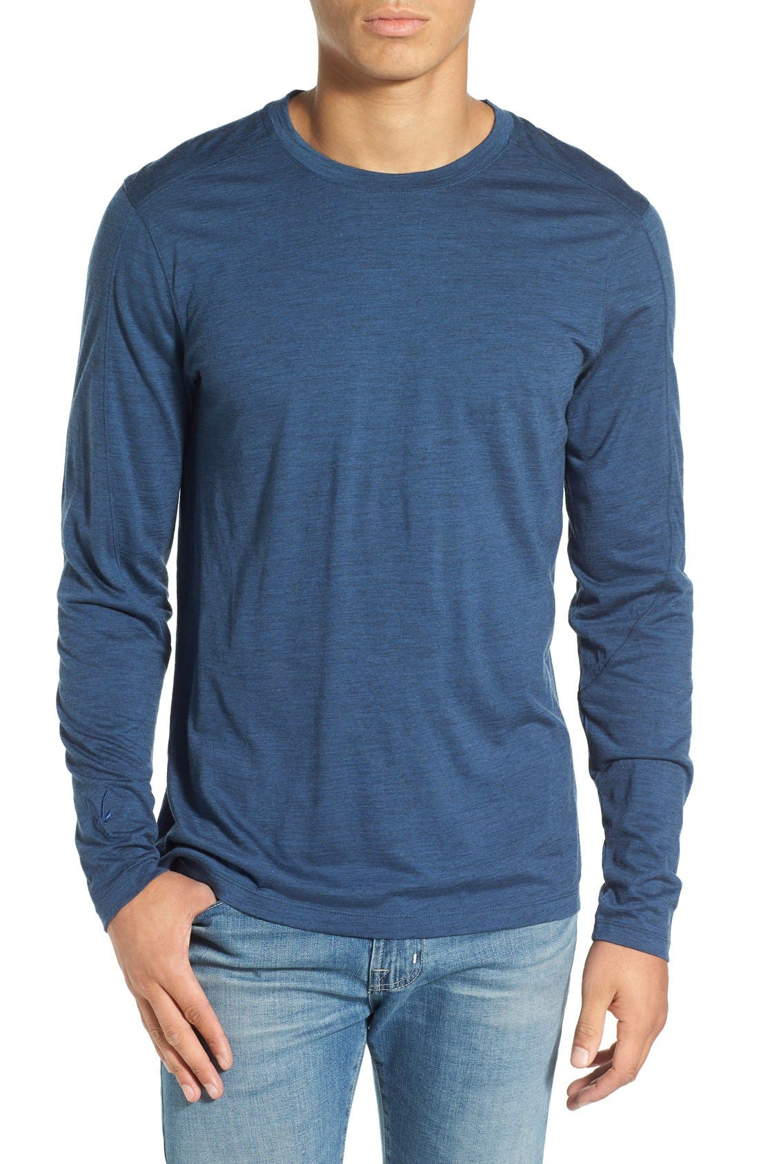 ibex 'OD' Merino Wool Long Sleeve Crewneck T-Shirt