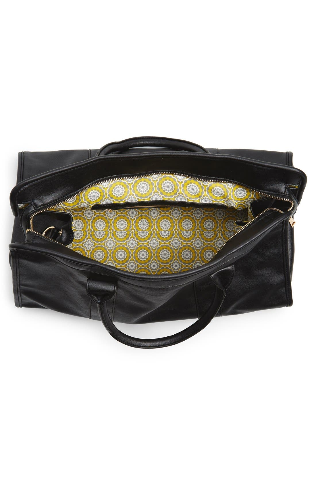 Alternate Image 4  - NU-G Faux Leather Overnighter Bag