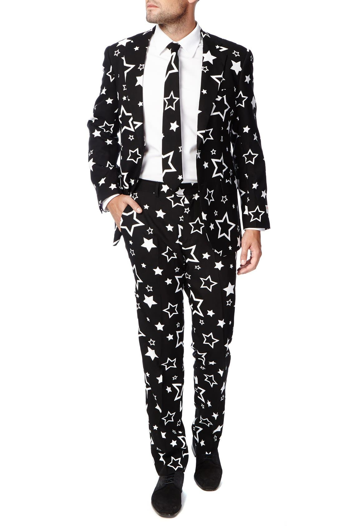 OPPOSUITS 'Starring' Trim Fit Two-Piece Suit with Tie