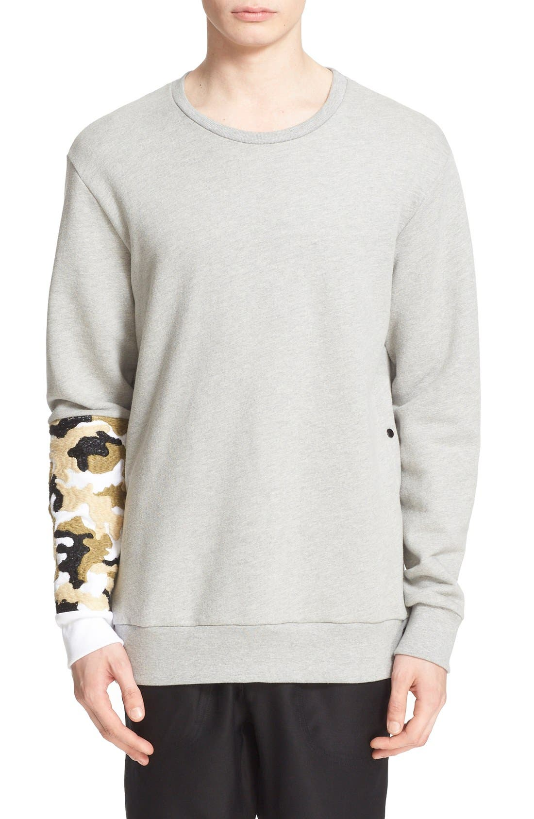 DRIFTER 'Bradley' Embroidered Sleeve Sweatshirt