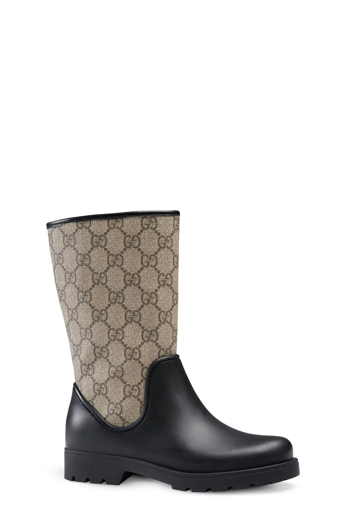 Gucci 'Rainy Junior' Rain Boot (Toddler & Little Kid)