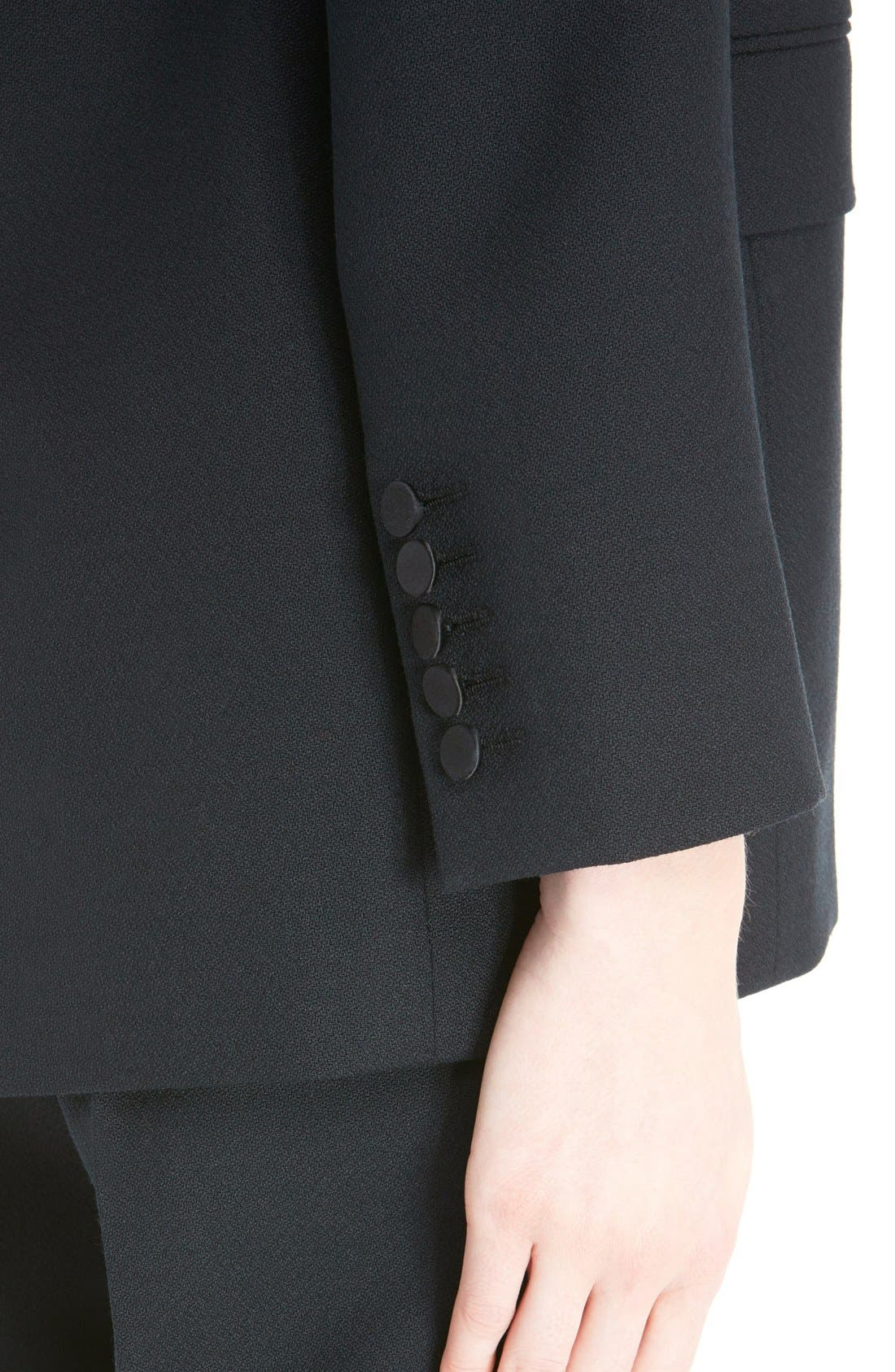 Alternate Image 6  - Saint Laurent One-Button Tuxedo Jacket