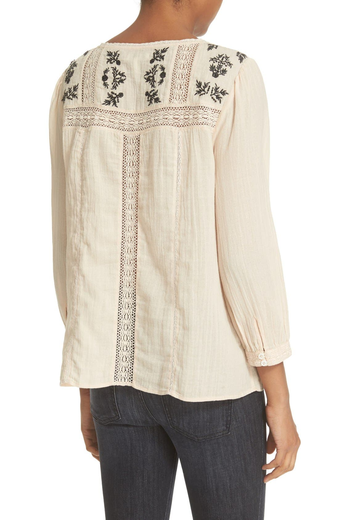 Alternate Image 2  - Joie 'Oakes' Embroidered Cotton Blouse