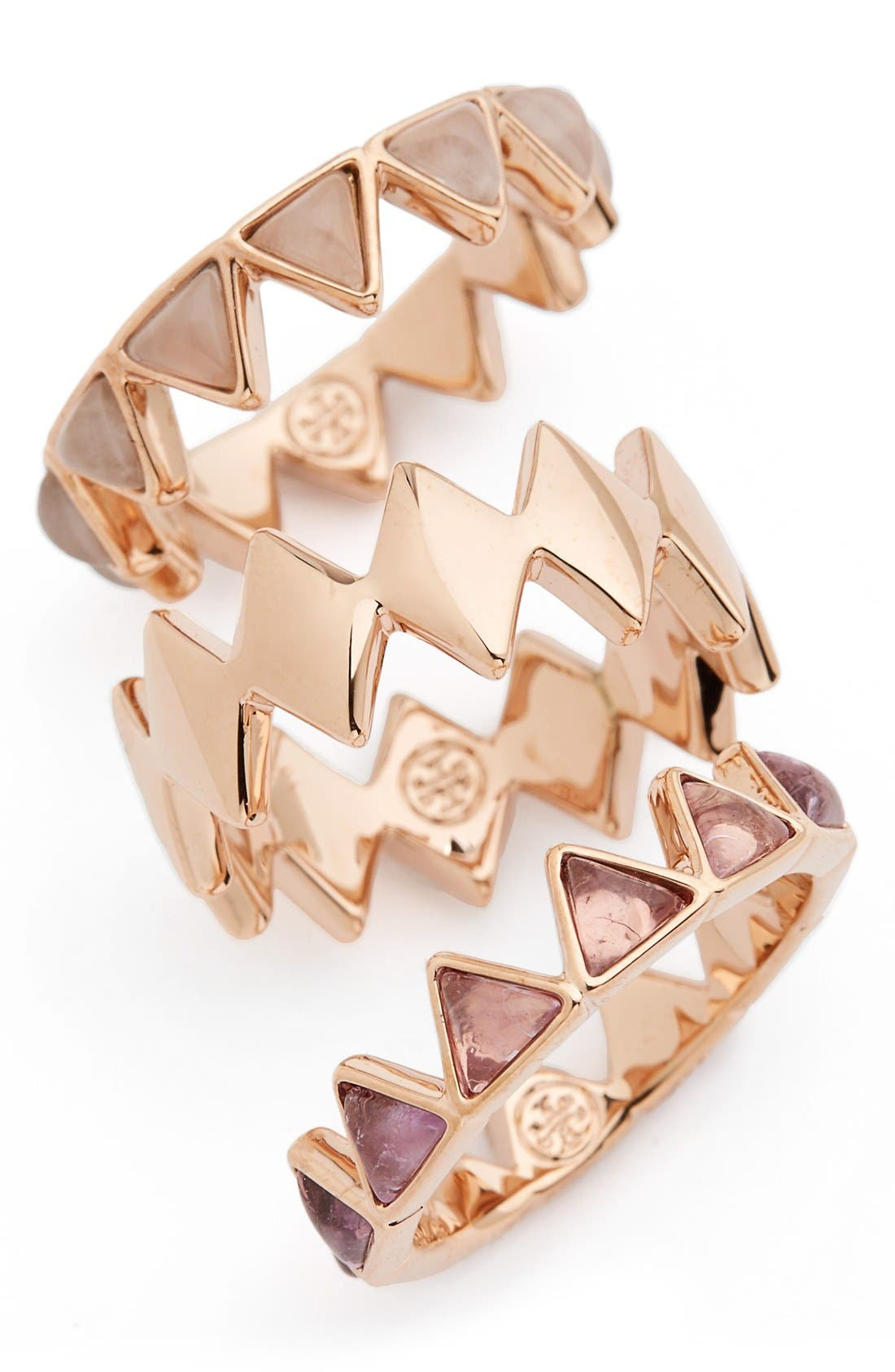 Alternate Image 1 Selected - Tory Burch 'Puzzle' Stone Rings (Set of 3)