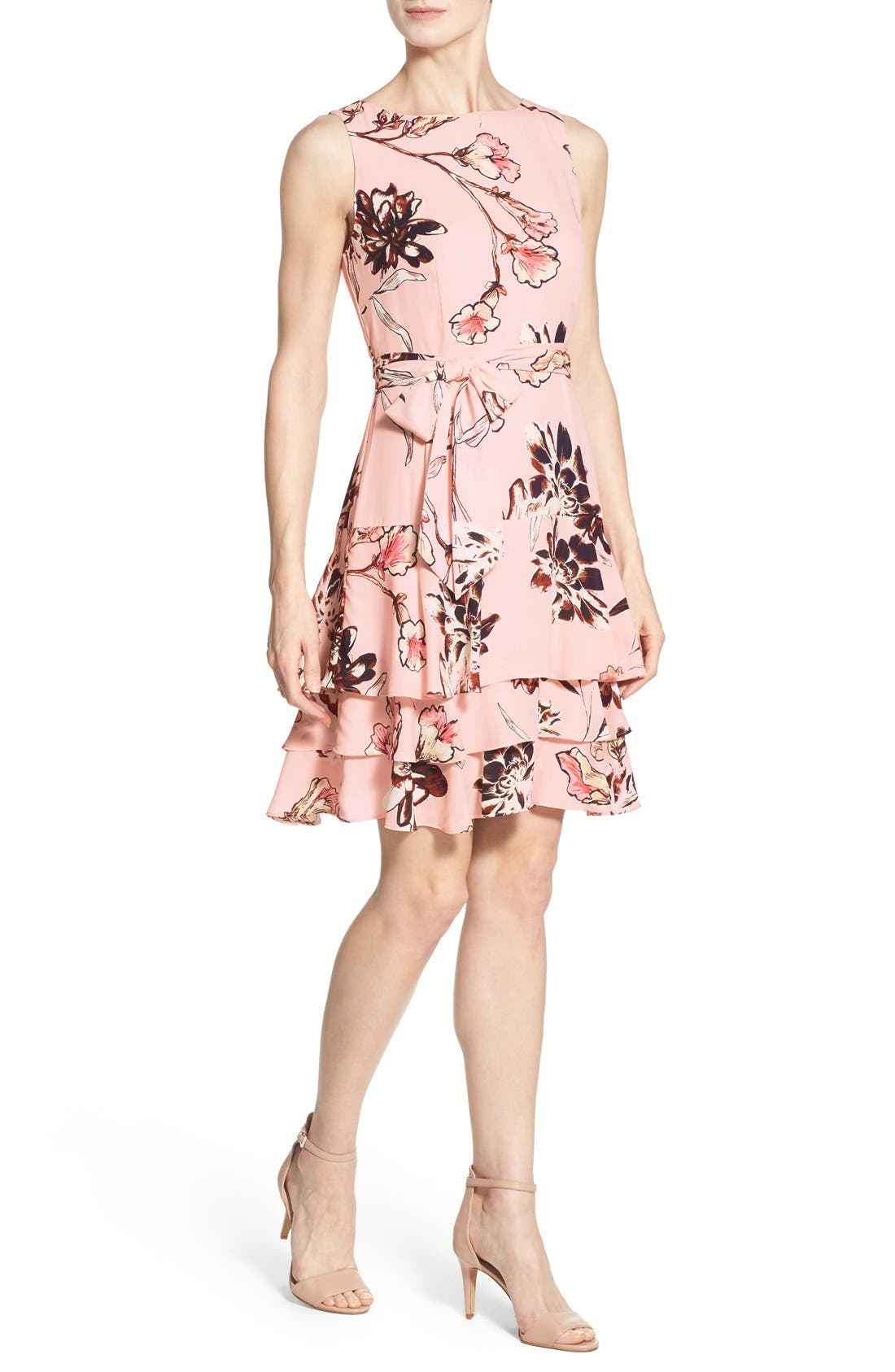 Alternate Image 3  - Ivanka Trump Floral Print Tiered A-Line Dress
