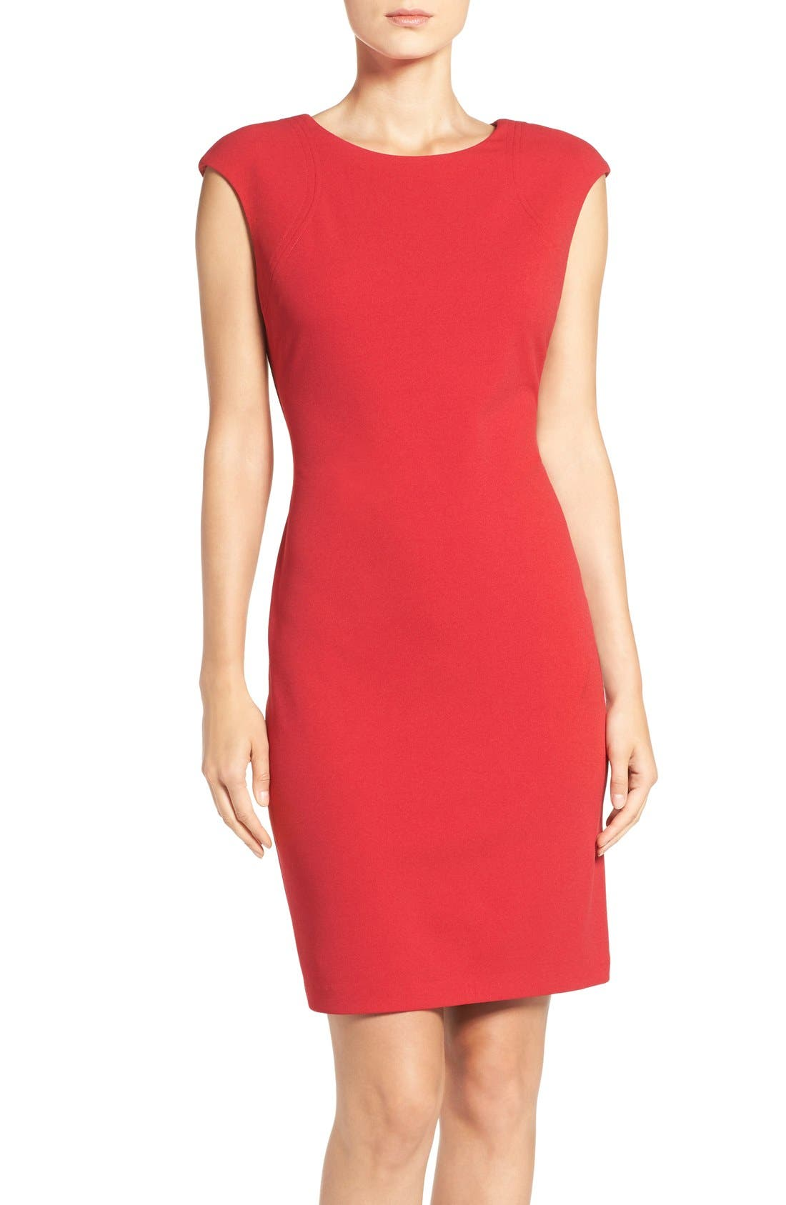 Alternate Image 1 Selected - Vince Camuto Crepe Sheath Dress