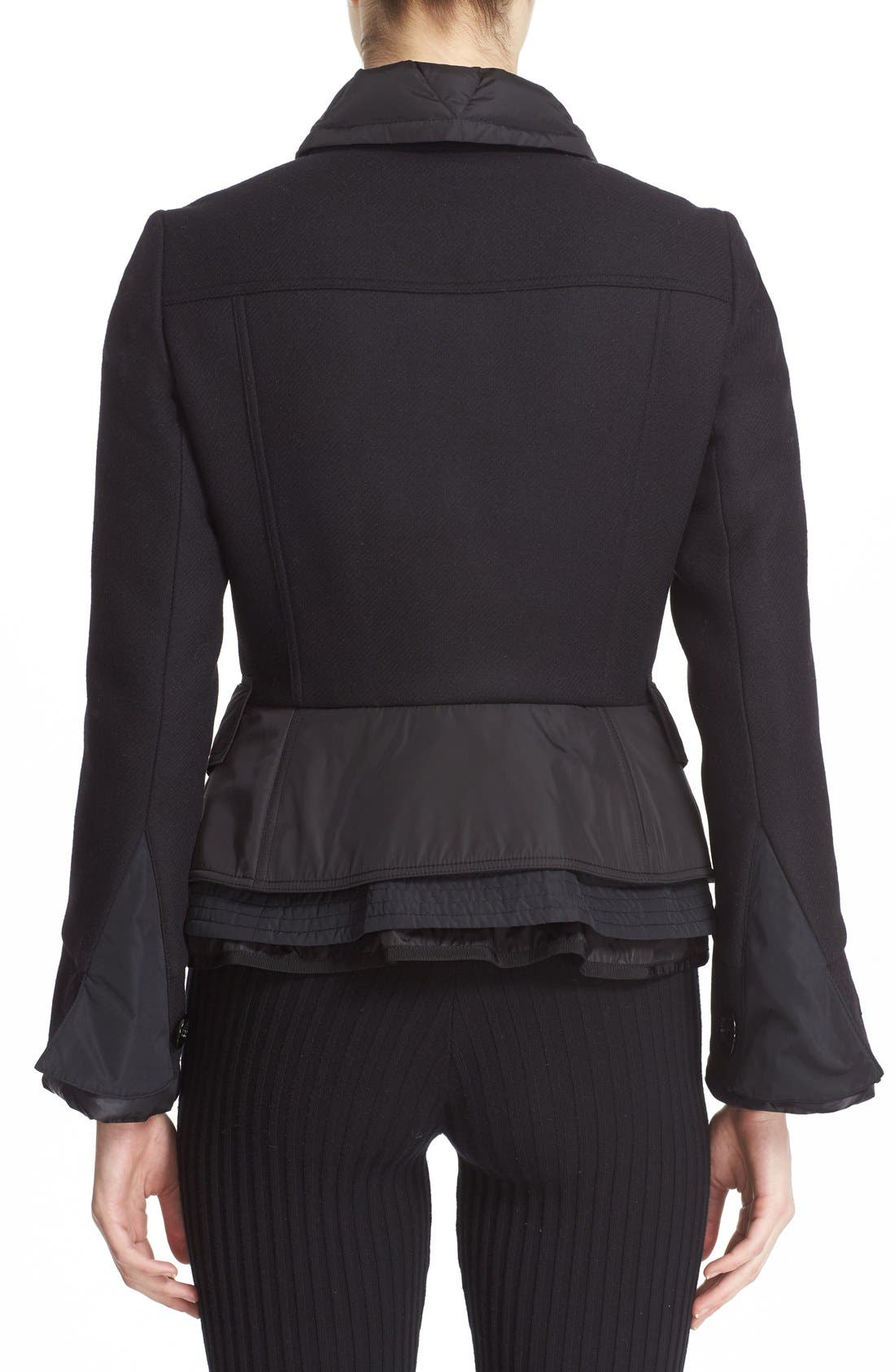 Alternate Image 2  - Moncler 'Yvone' Peplum Down Jacket