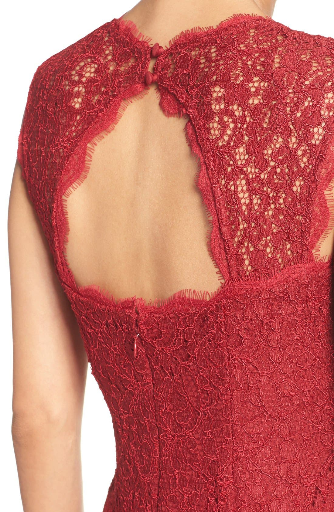 Alternate Image 5  - Adrianna Papell Lace Sheath Dress (Regular & Petite)