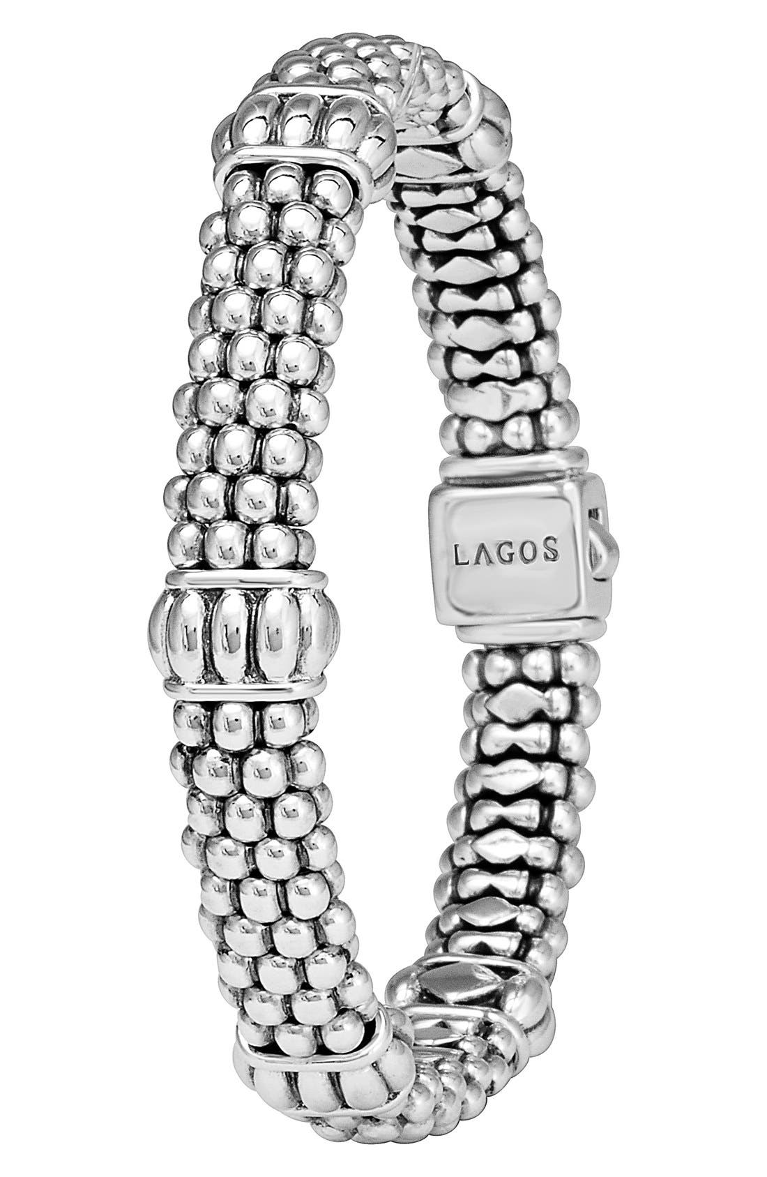 Alternate Image 2  - LAGOS Fluted Station Caviar Rope Bracelet