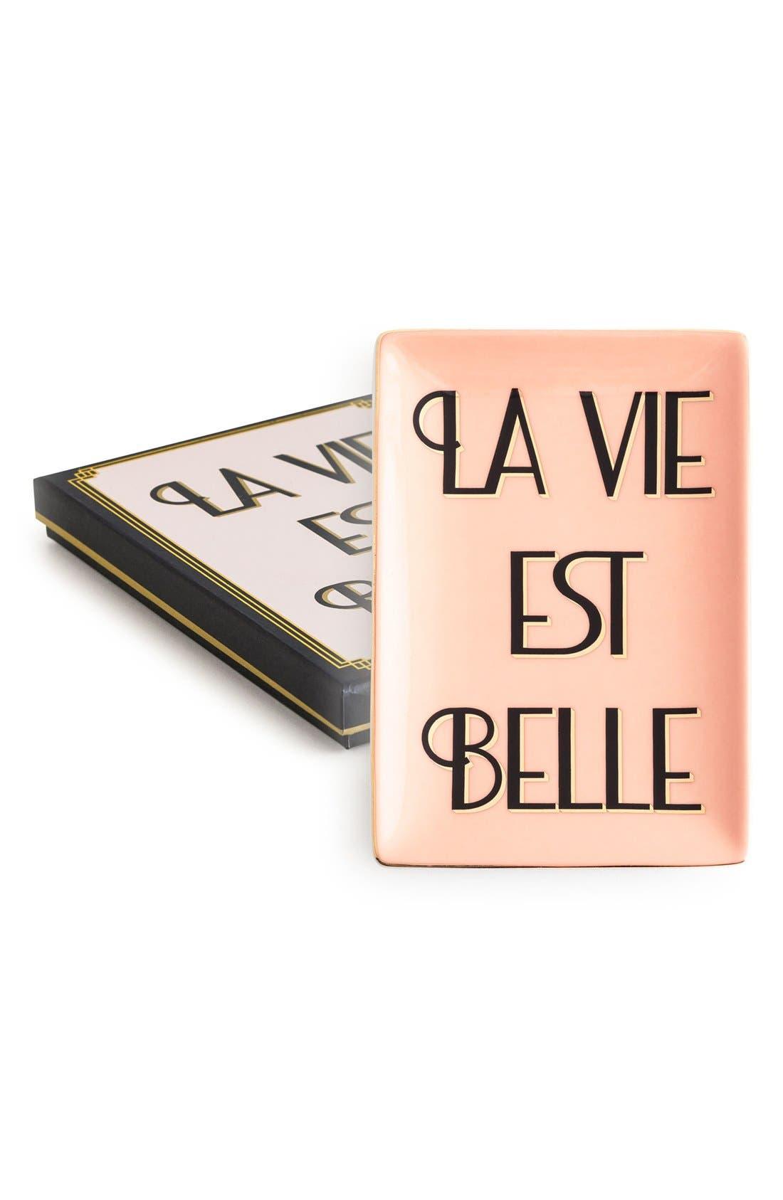 Alternate Image 1 Selected - Rosanna 'La Vie Est Belle' Porcelain Tray