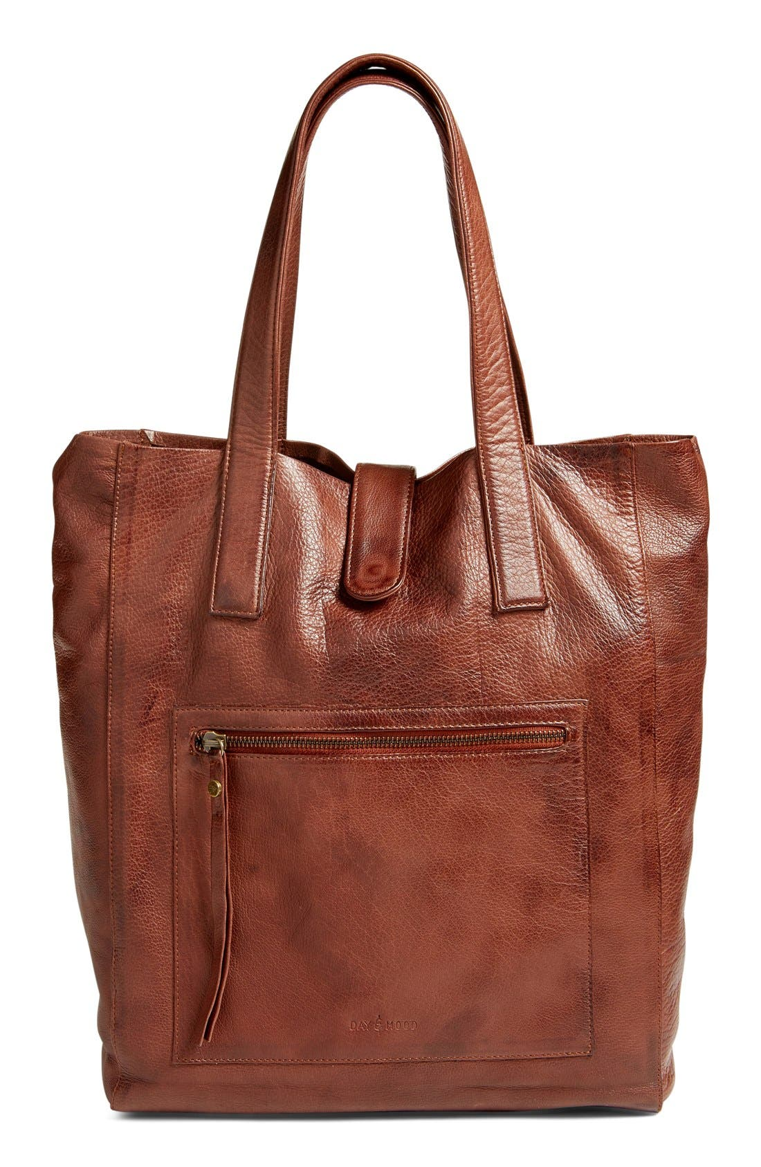 Alternate Image 1 Selected - DAY & MOOD 'Nola' Leather Tote