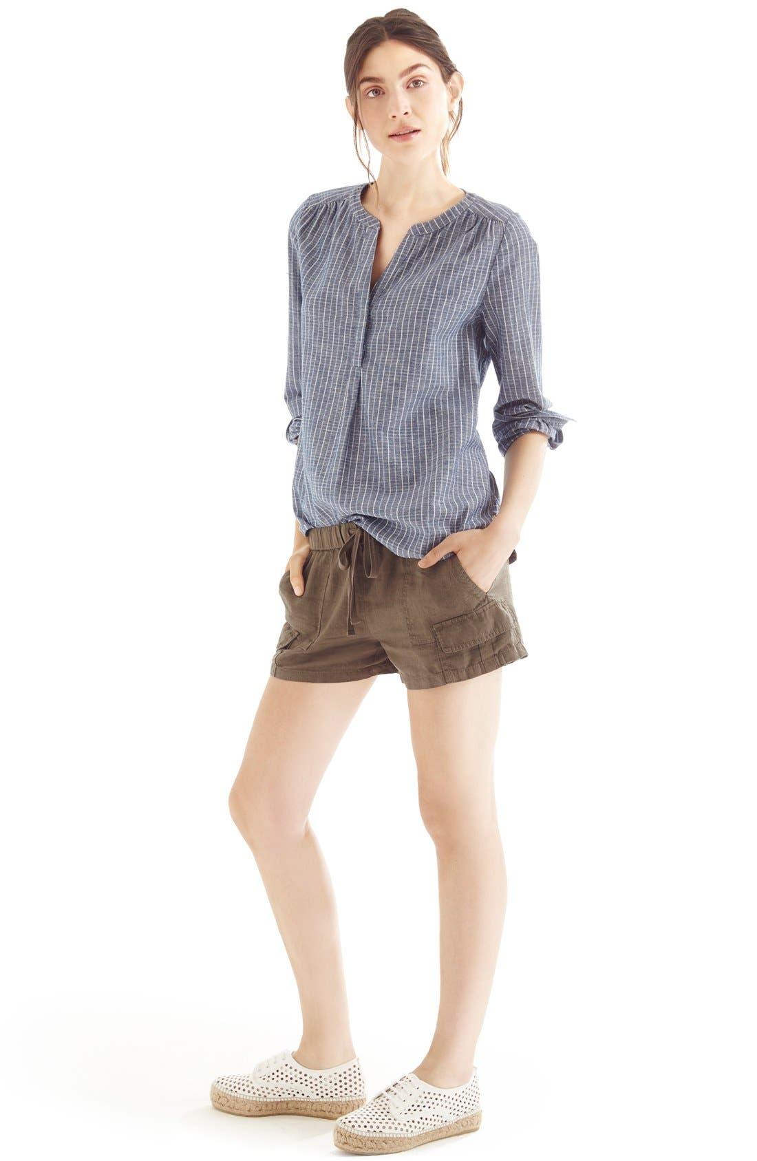 Joie Roll Sleeve Shirt & Cargo Shorts