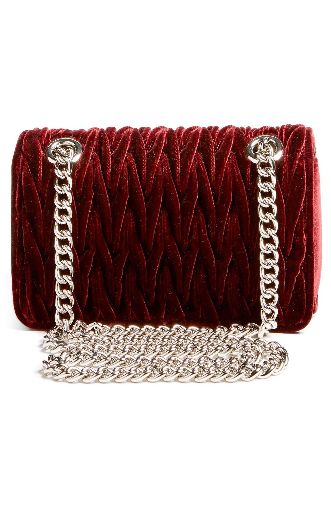 Alternate Image 3  - Miu Miu 'Small Club' Matelassé Velvet Shoulder Bag
