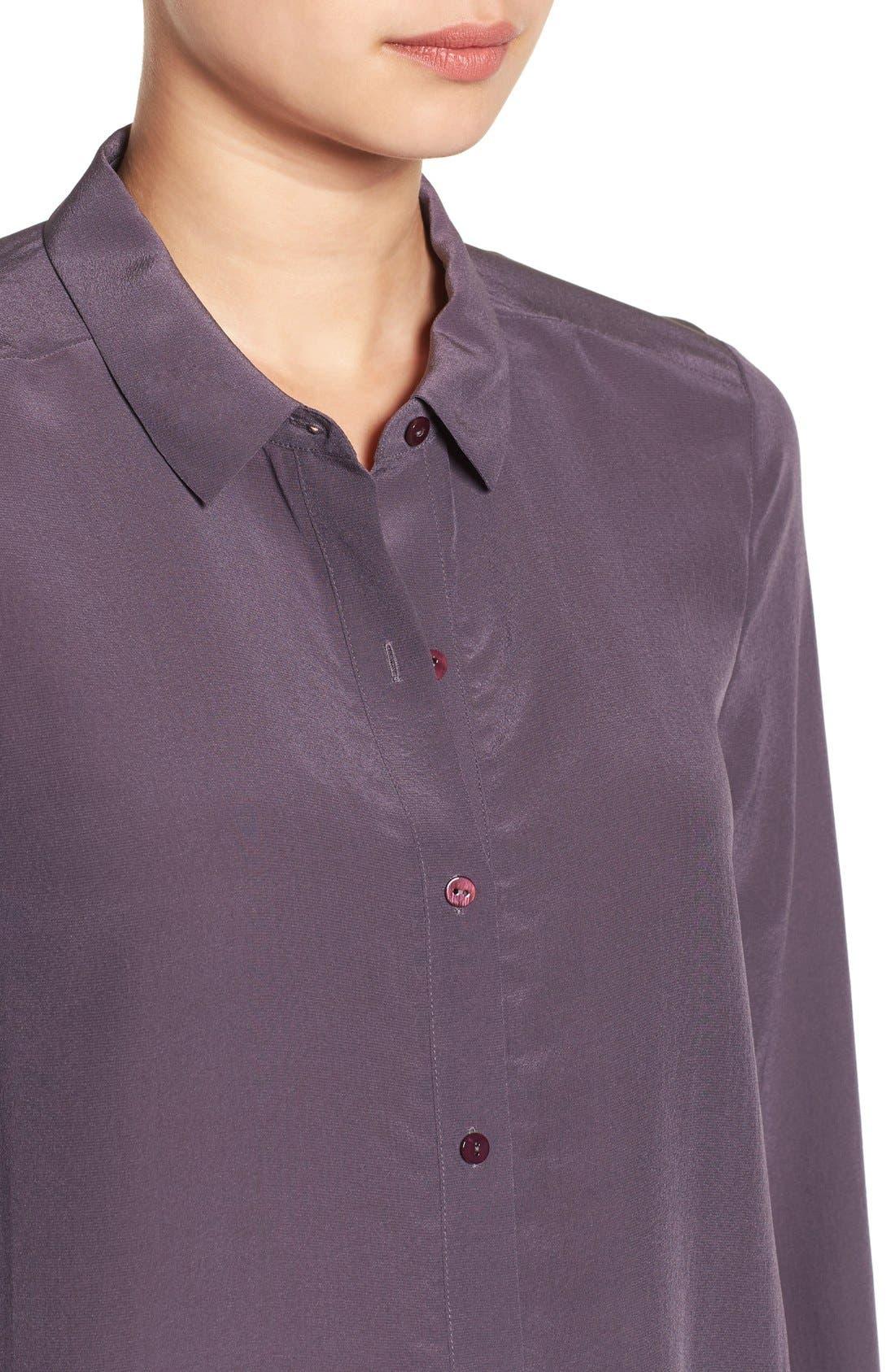 Alternate Image 4  - Eileen Fisher Silk Shirt