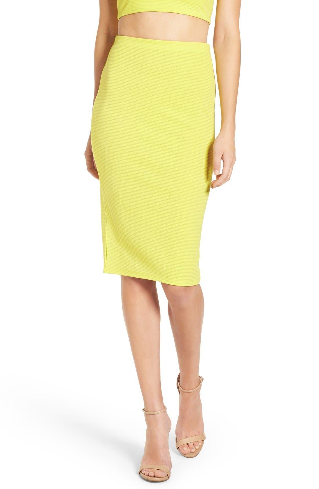 Alternate Image 1 Selected - Missguided Ribbed Midi Skirt