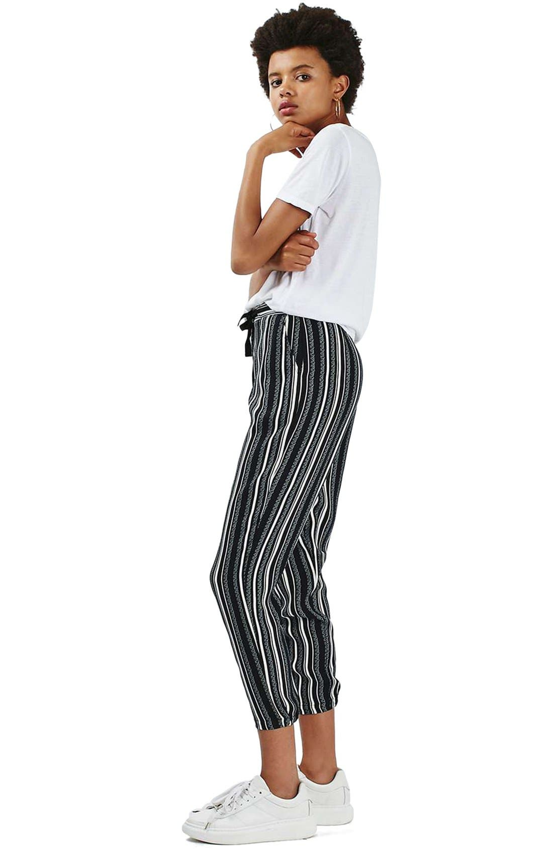 Alternate Image 2  - Topshop Stripe Tapered Slouch Pants