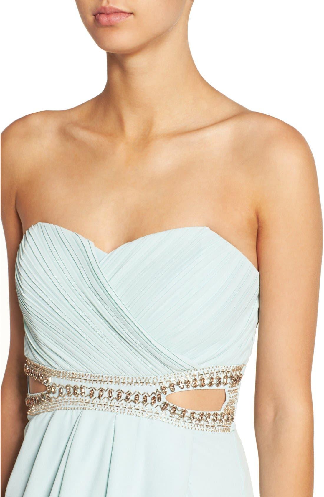 Alternate Image 4  - TFNC 'Catalina' Embellished Strapless Midi Dress