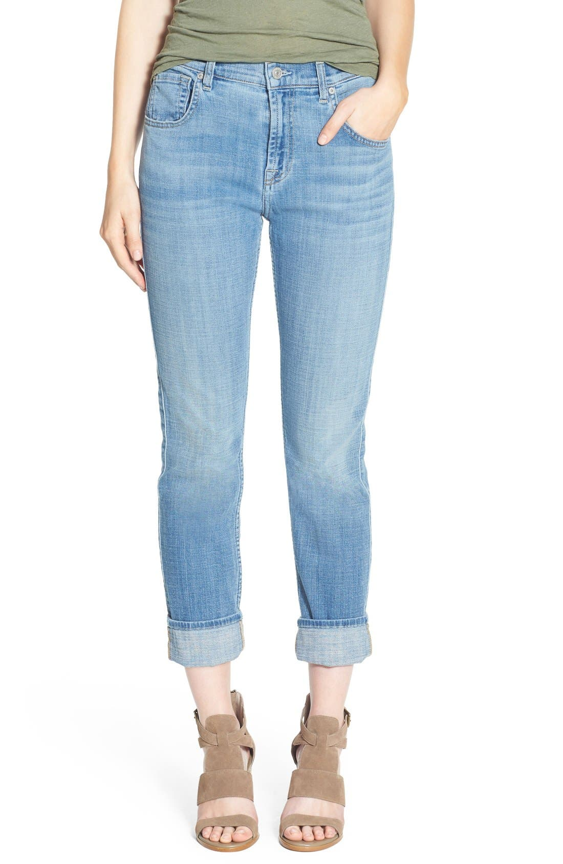 Alternate Image 1 Selected - 7 For All Mankind® 'Josefina' Relaxed Skinny Jeans (Medium Broken Twill)