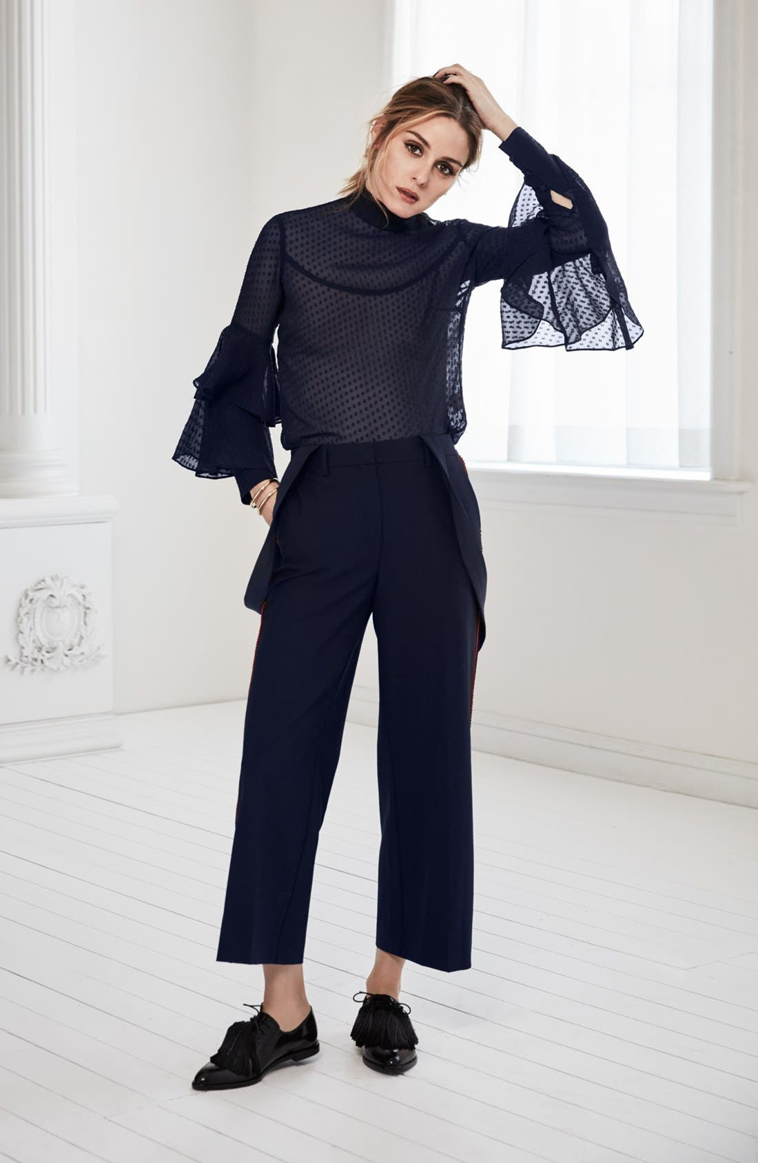 Alternate Image 7  - Olivia Palermo + Chelsea28 Tiered Sleeve Silk Top