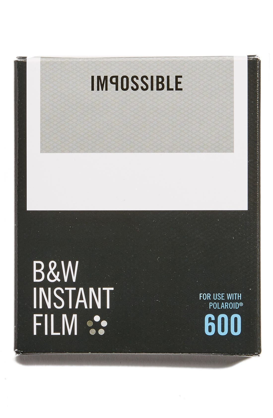 Impossible Project Polaroid 600 Square Frame Instant Black & White Film (8 Exposures)