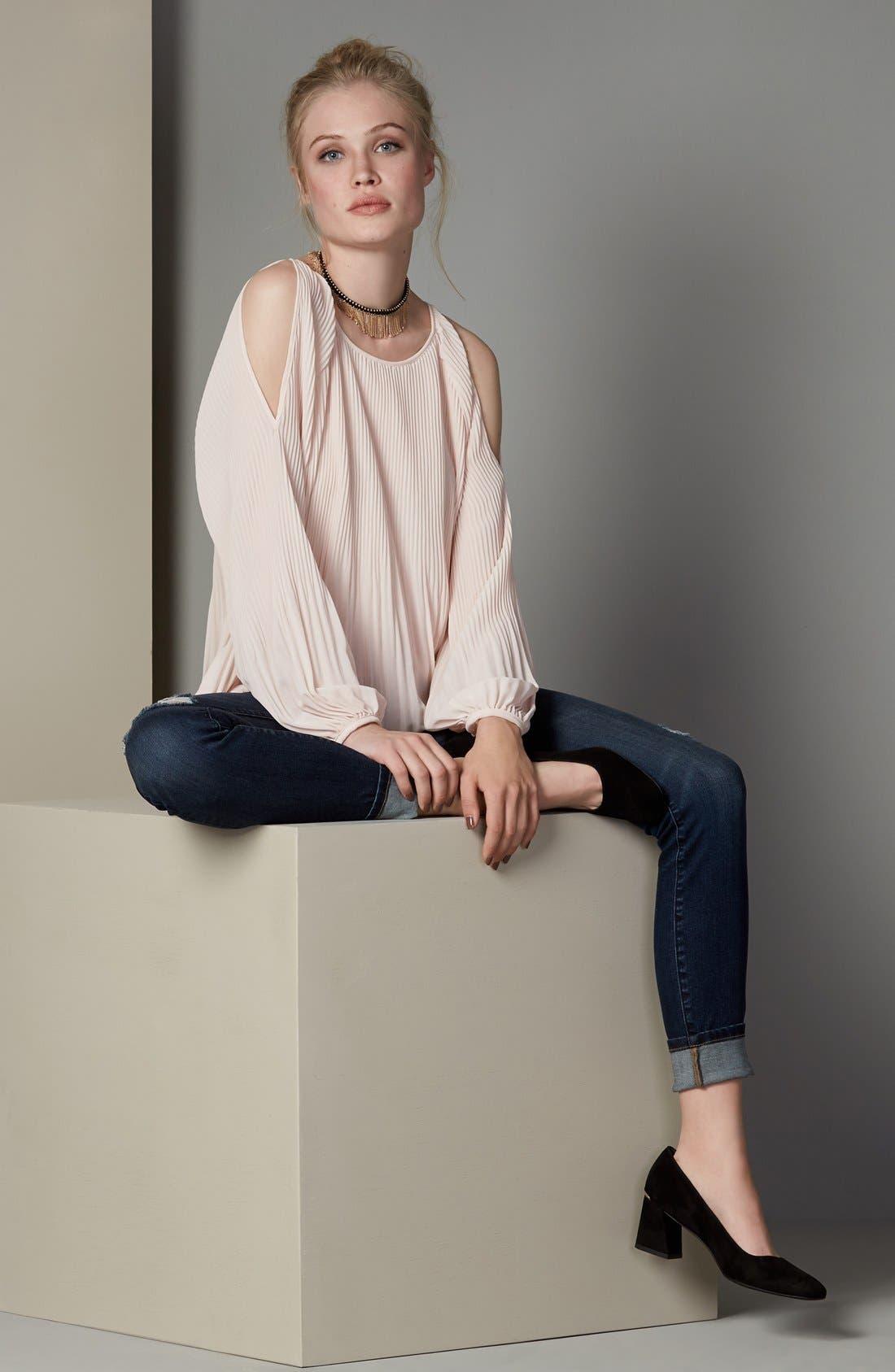 Alternate Image 2  - BLANKNYC Distressed Skinny Jeans (Junk Drawers)