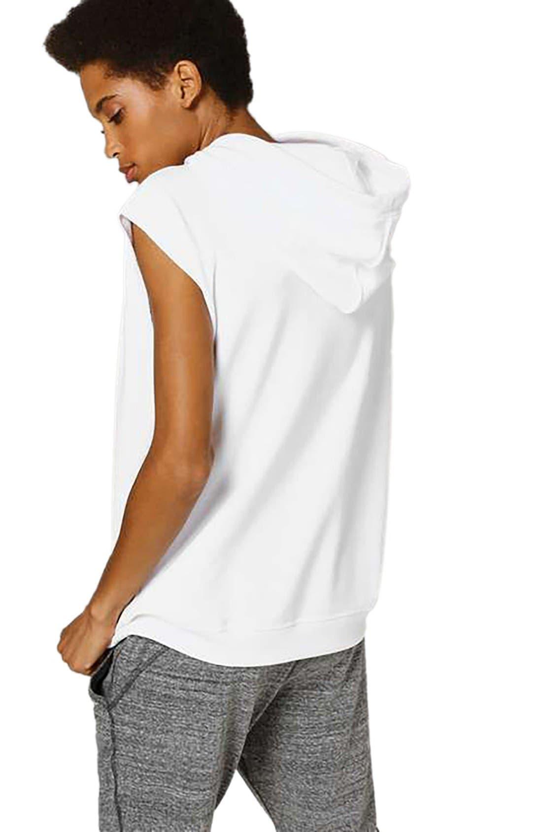 Alternate Image 3  - IVY PARK® Raw Hem Peached Logo Sleeveless Hoodie