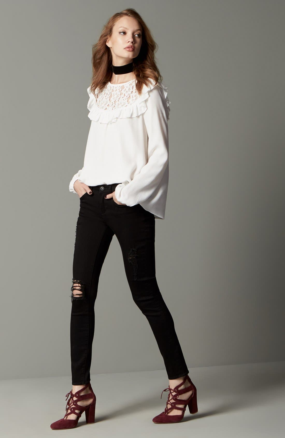 Alternate Image 12  - Articles of Society 'Sarah' Skinny Jeans (Black Cast)
