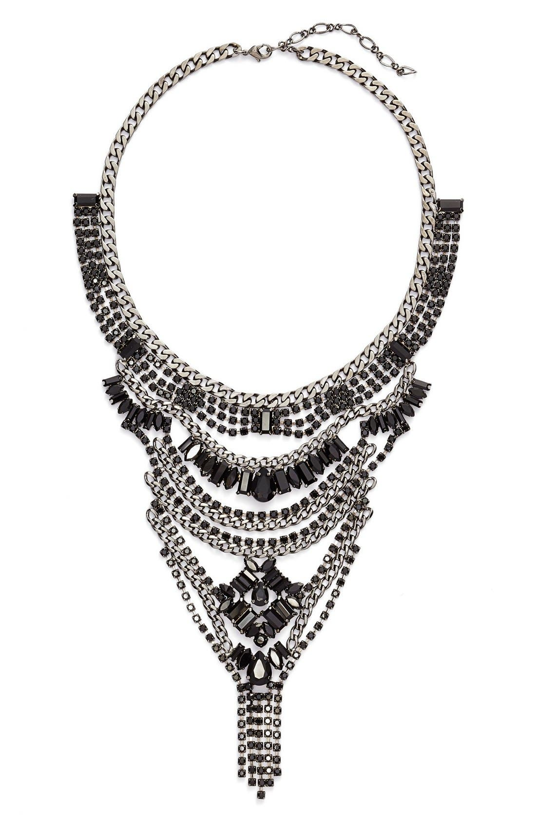 Alternate Image 1 Selected - Cristabelle Multilayered Crystal Bib Necklace