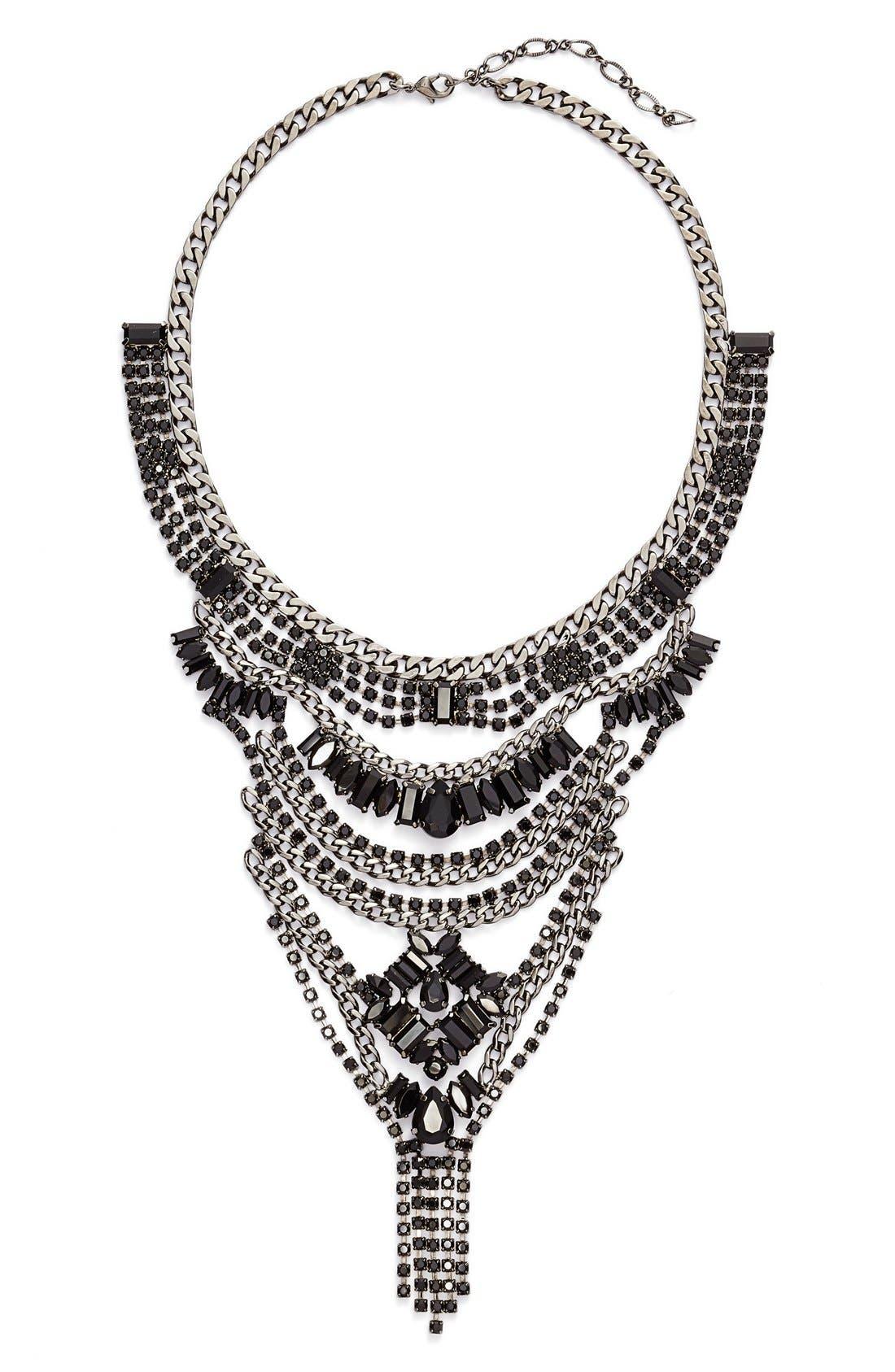 Main Image - Cristabelle Multilayered Crystal Bib Necklace