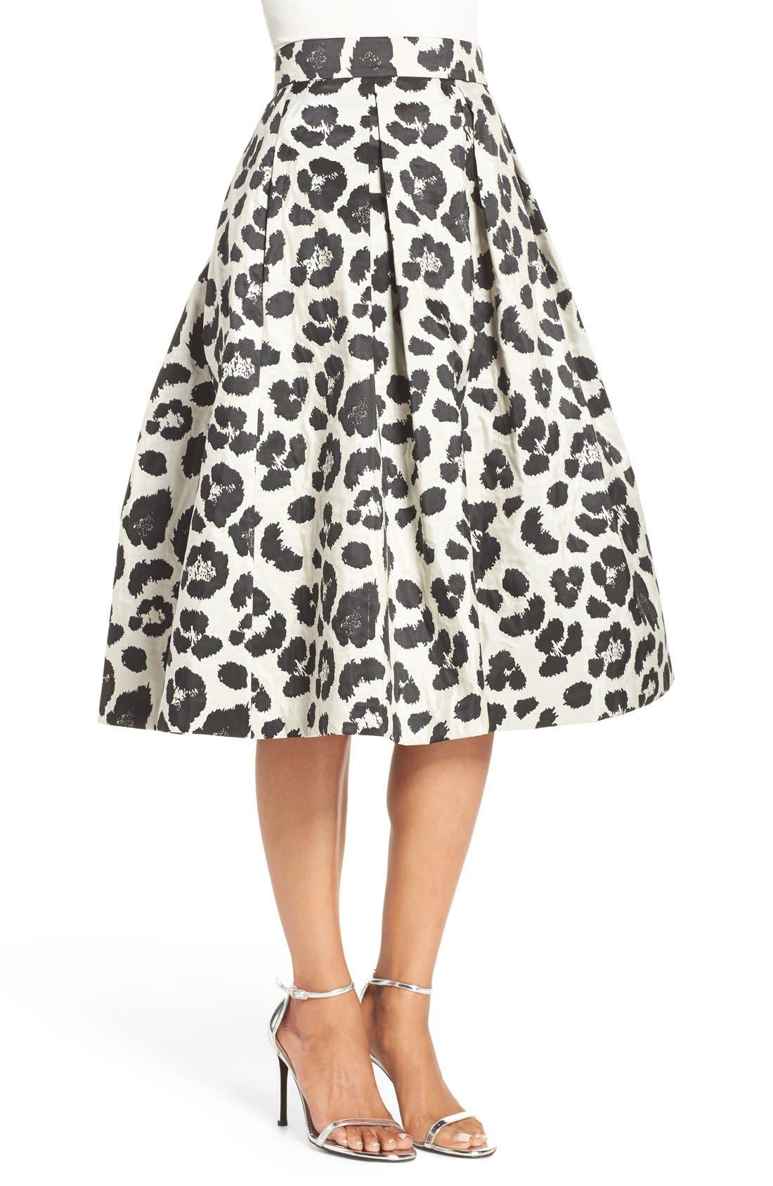 Alternate Image 3  - Eliza J Metallic Jacquard Midi Skirt