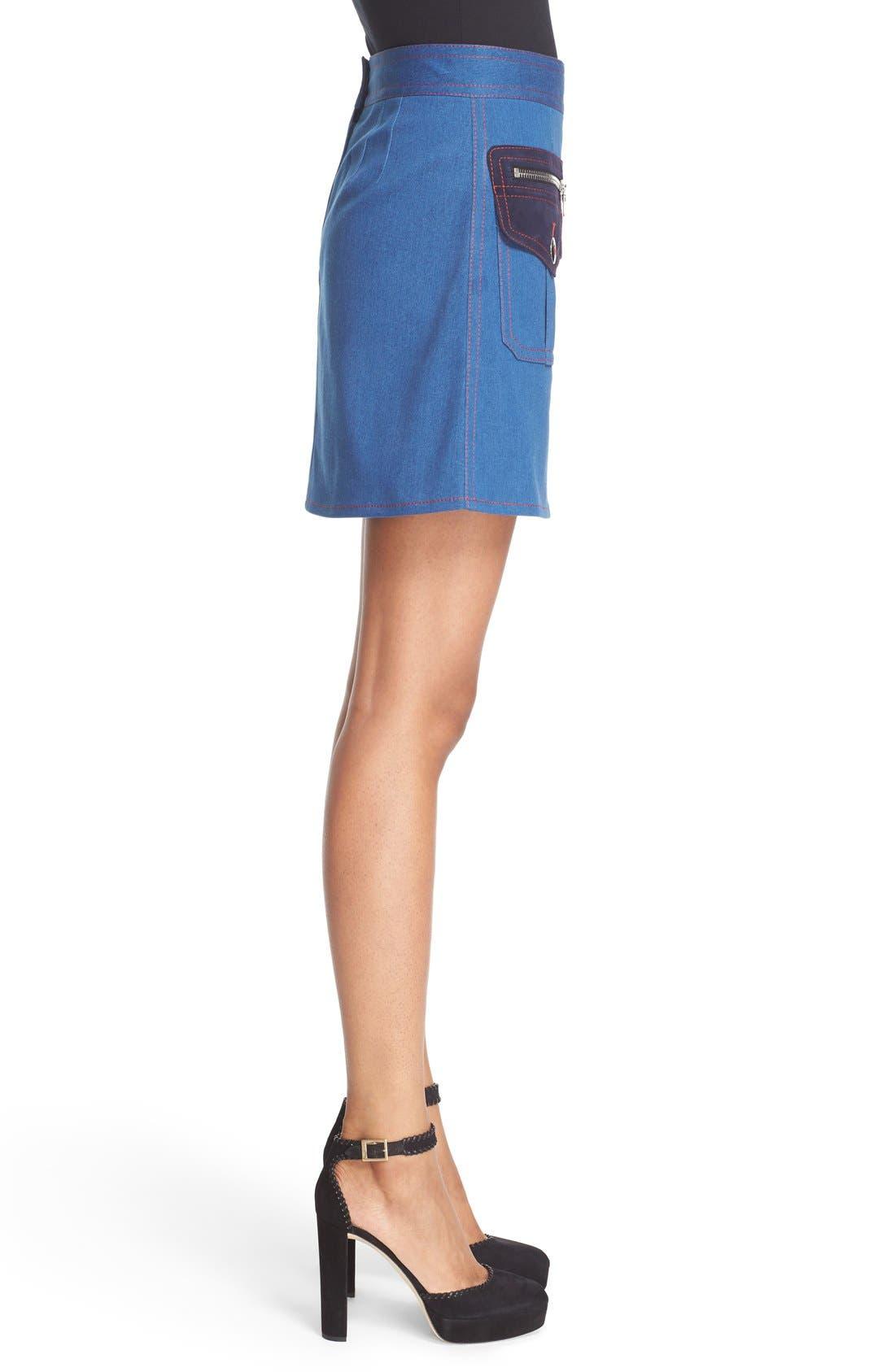 Alternate Image 5  - MARC JACOBS Patch Pocket Denim Skirt