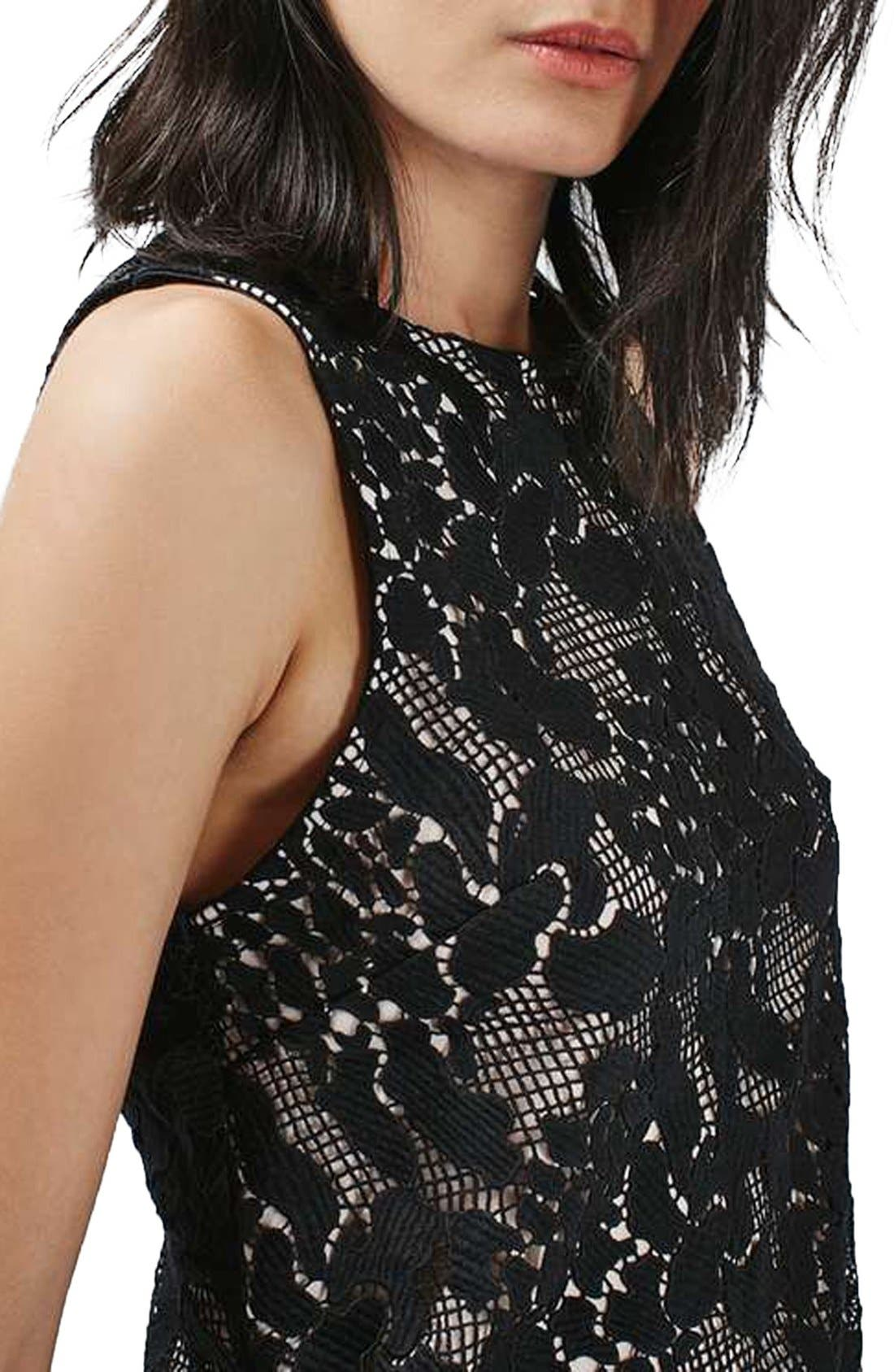 Alternate Image 5  - Topshop Animal Lace Cross Back Sleeveless Top