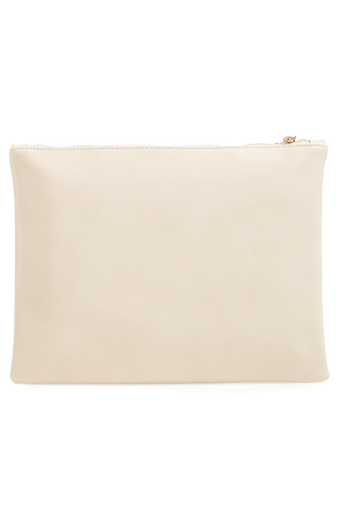 Alternate Image 3  - Sole Society 'Radcliffe' Faux Leather Clutch