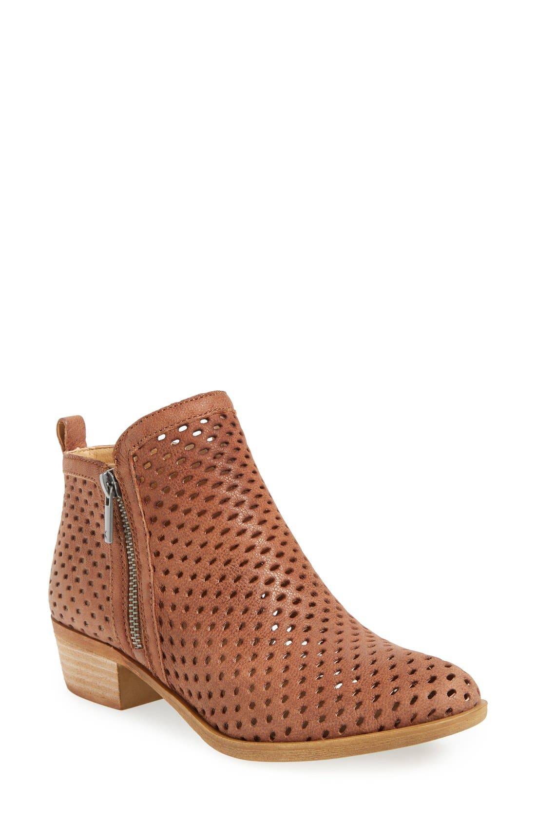Alternate Image 1 Selected - Lucky Brand Basel Perforated Bootie (Women)