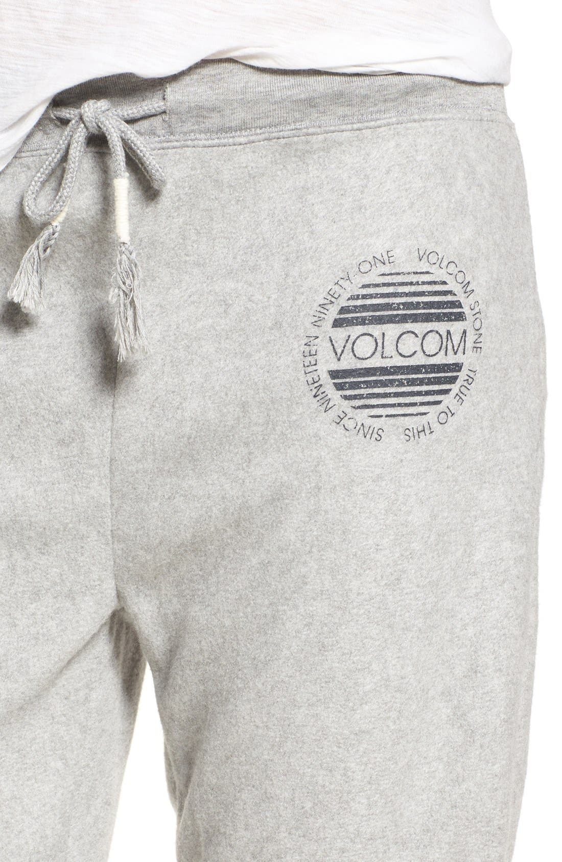Alternate Image 3  - Volcom 'Lived In' Drawstring Fleece Jogger Pants