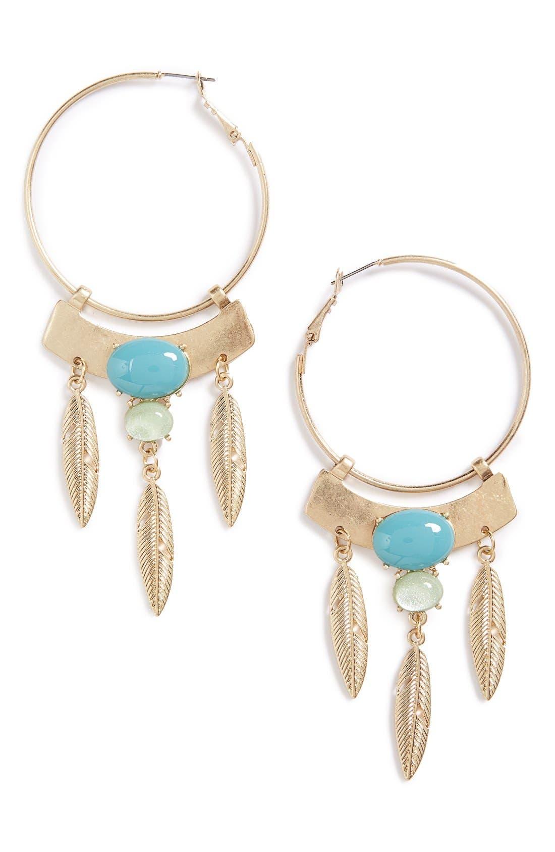 Alternate Image 1 Selected - Danielle Nicole 'Palm Springs' Hoop Earrings