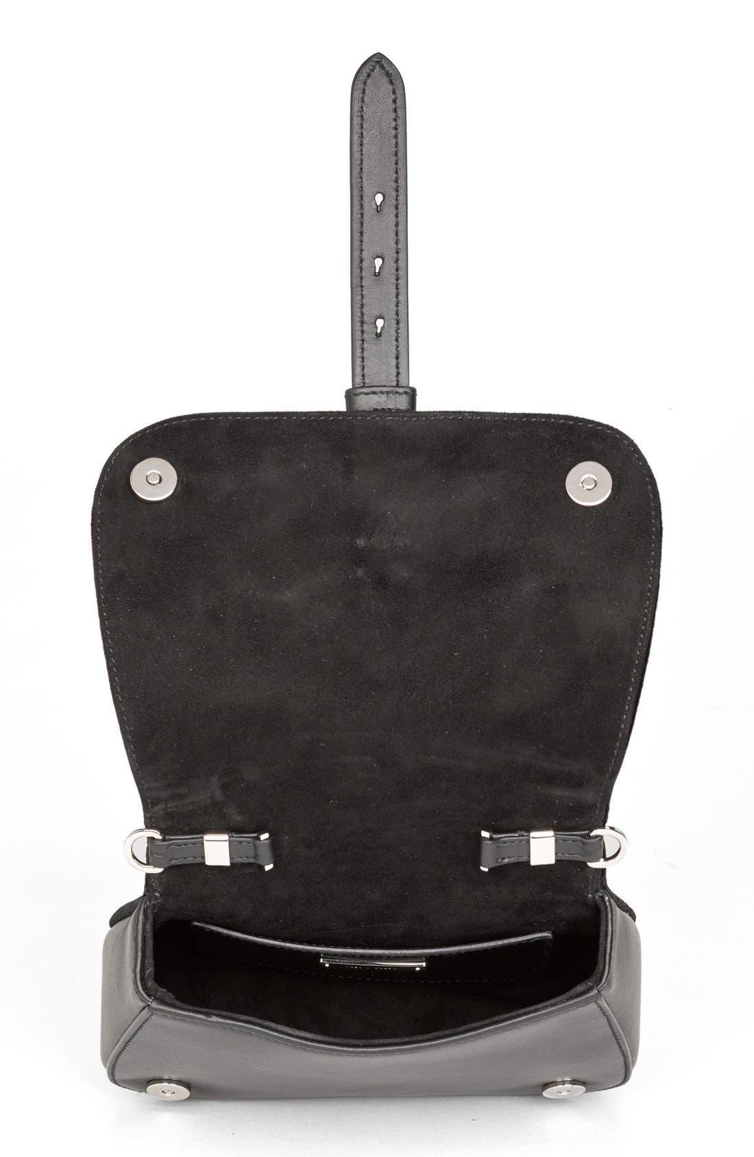 Alternate Image 4  - Miu Miu 'Small Dahlia' Velvet & Calfskin Leather Saddle Bag