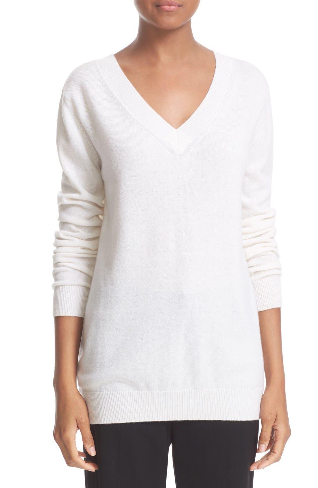 Alternate Image 1 Selected - Vince Cashmere V-Neck Sweater