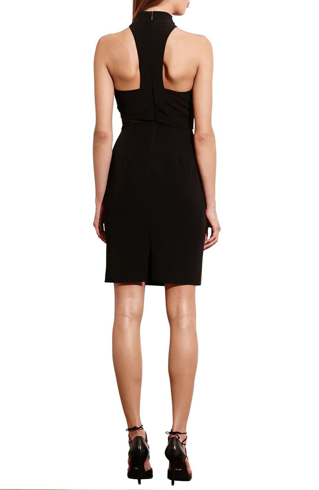 Alternate Image 2  - Lauren Ralph Lauren Asymmetrical Stretch Sheath Dress
