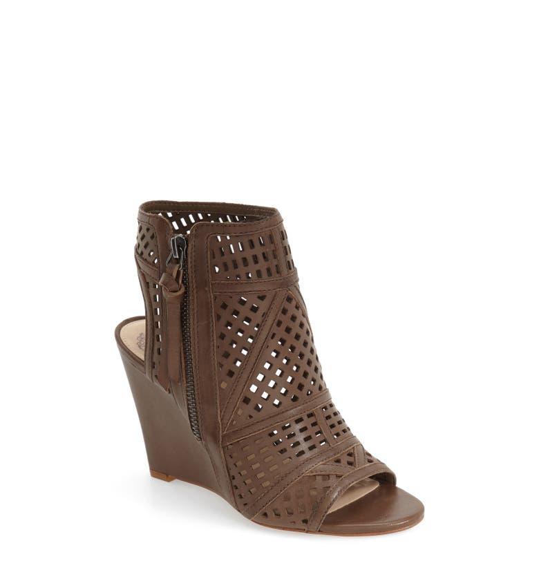 Vince Camuto 'Xabrina' Perforated Wedge Sandal (Women