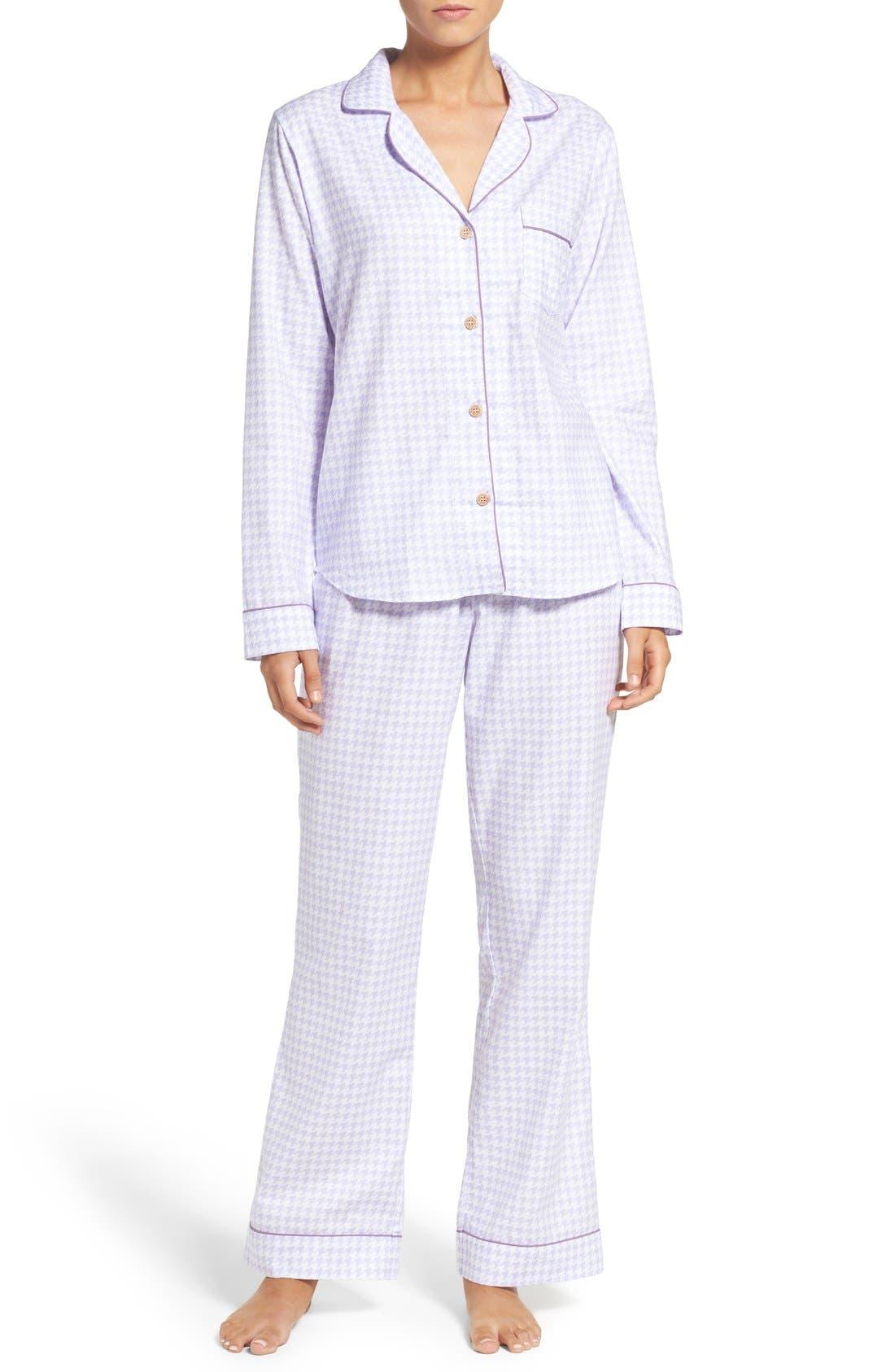 Main Image - UGG® 'Raven' Houndstooth Pajamas
