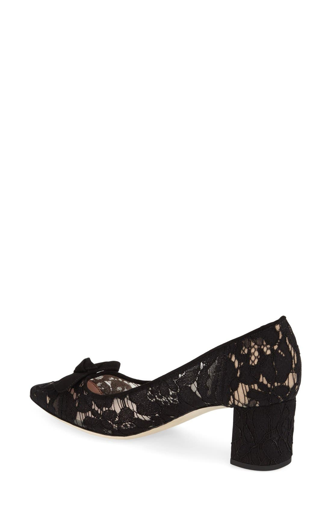 Alternate Image 2  - kate spade new york 'madelaine' block heel pump (Women)