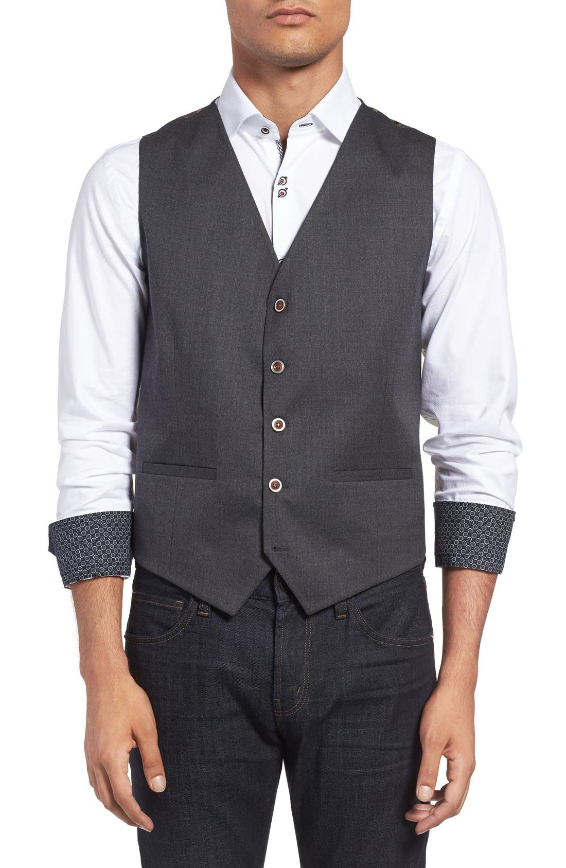 Stone Rose Wool Vest