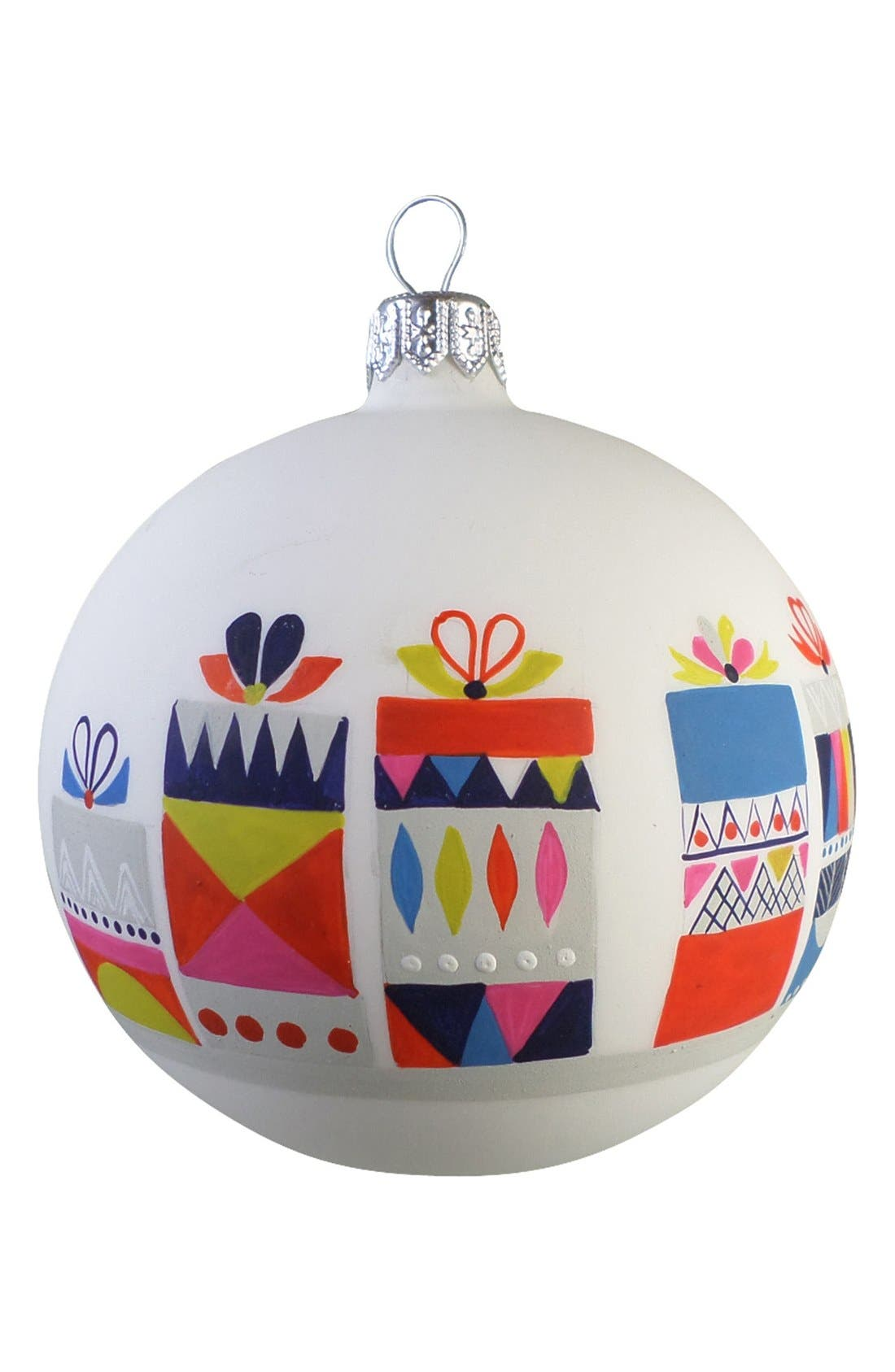 Main Image - Nordstrom at Home 'Present' Glass Ball Ornament