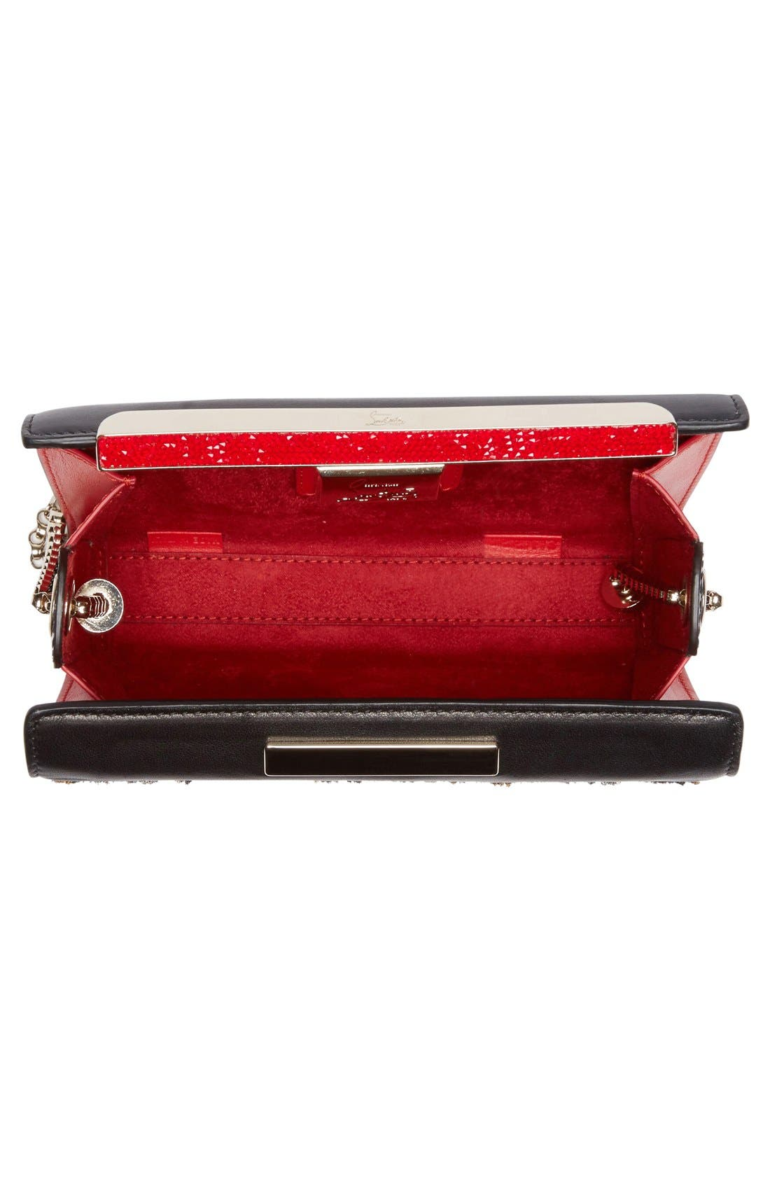 Alternate Image 4  - Christian Louboutin Vanité Metallic Leopard Leather Clutch