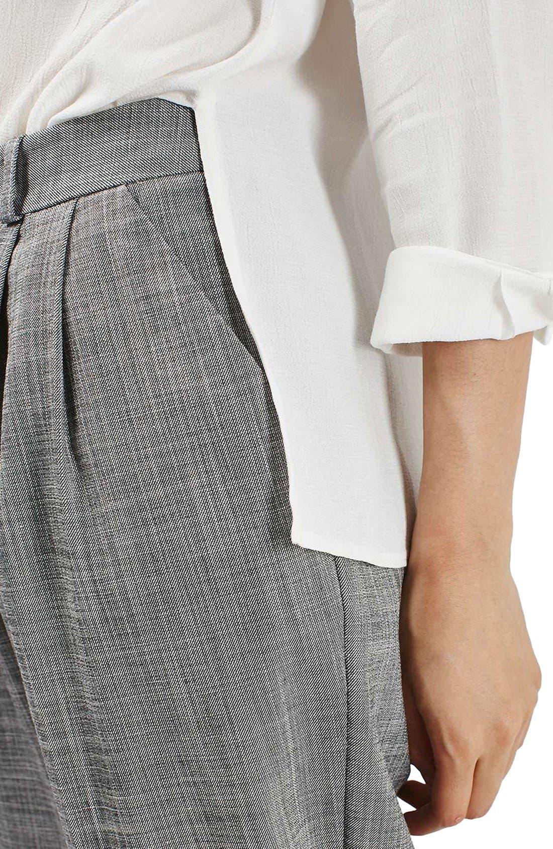 Alternate Image 5  - Topshop Crosshatch Crop Trousers